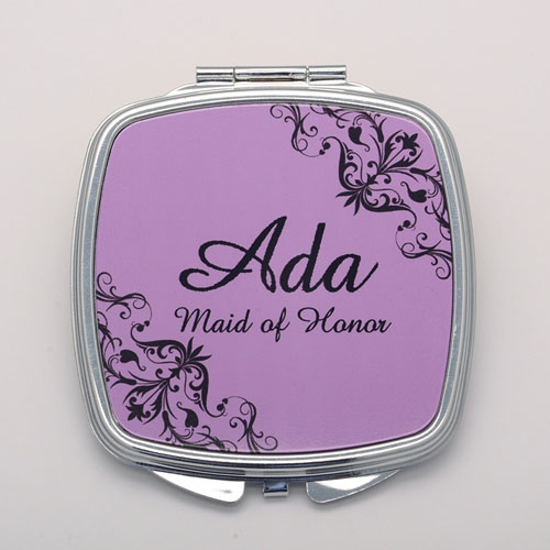 Lavender Swirl Personalized Mirror