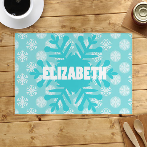 Snowflake Personalized Placemat