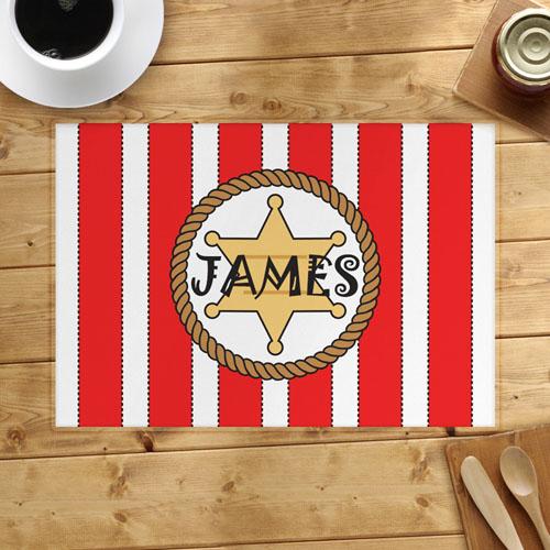Red Stripe Personalized Placemat