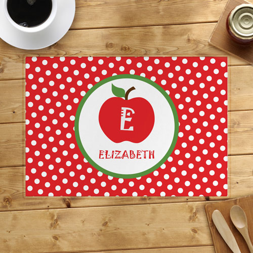 Apple Personalized Placemat