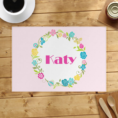 Floral Personalized Placemat