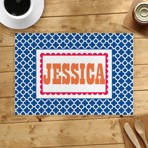 Navy Clover Personalized Placemat