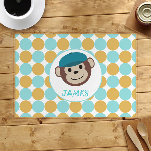 Monkey Boy Personalized Placemat