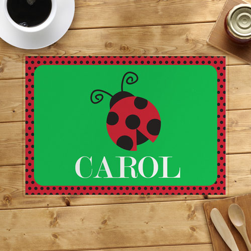 Polka Dot Ladybug Personalized Placemat