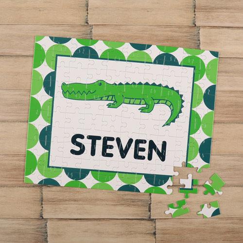 Crocodile Personalized Kids Puzzle
