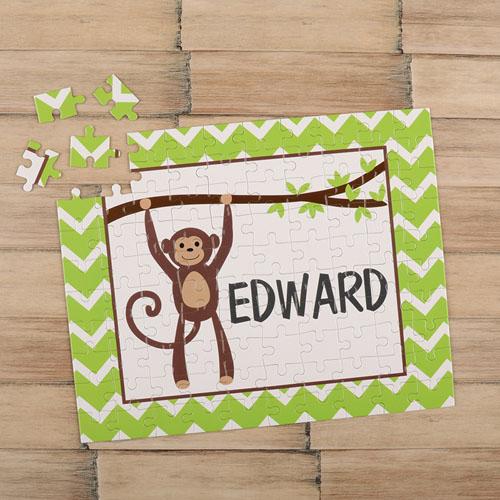 Monkey Personalized Kids Puzzle