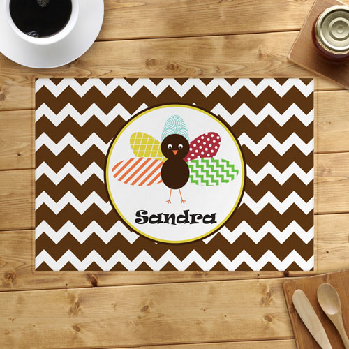 Personalized Thanksgiving Chevron Placemat