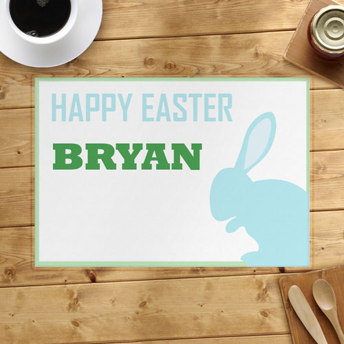 Light Blue Bunny Personalized Placemat