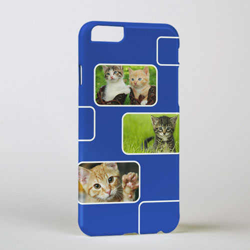 Blue Three Collage Photo Personalized iPhone 6 Case