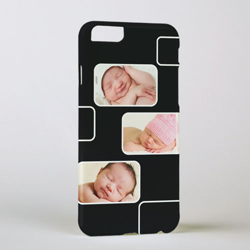 Black Three Collage Photo Personalized iPhone 6 Case