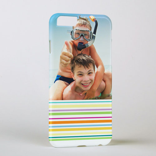 Colorful Stripe Personalized Photo iPhone 6 Case