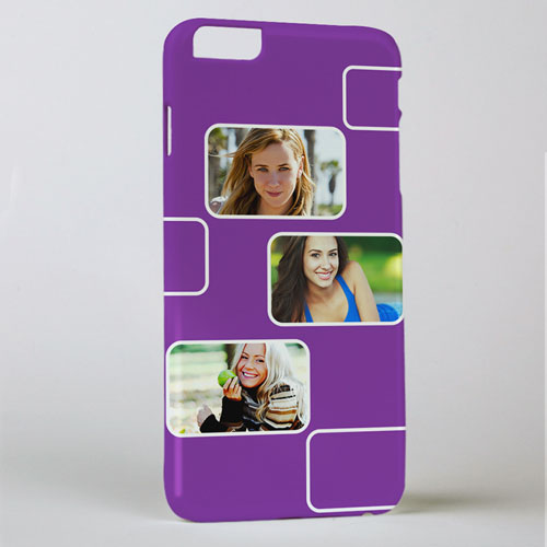 Plum Three Collage Photo Personalized iPhone 6+ Case