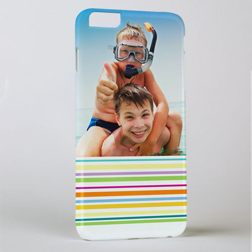 Colorful Stripe Personalized Photo iPhone 6 + Case