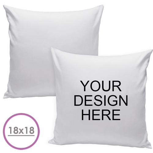 18 X 18 Custom Design Pillow (White Back) Cushion (No Insert)