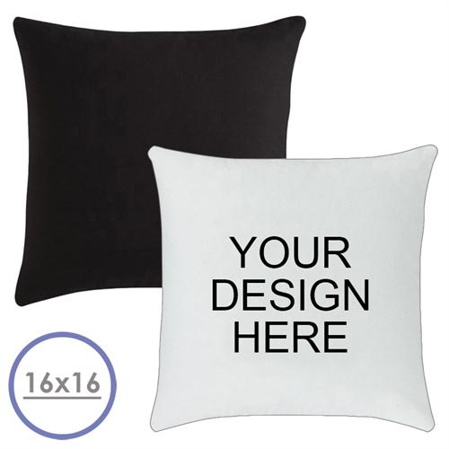 16 X 16 Custom Design Pillow (Black Back)  Cushion (No Insert)