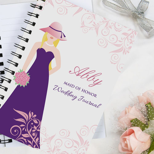 Maid Of Honor Personalized Wedding Journal