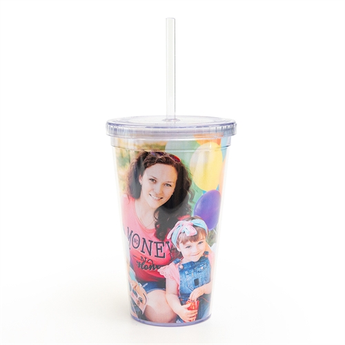 Custom Design Photo Acrylic Double Wall Tumbler