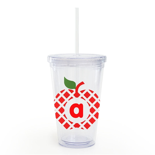 Design Your Own Grid Apple Teacher Insulated Tumbler