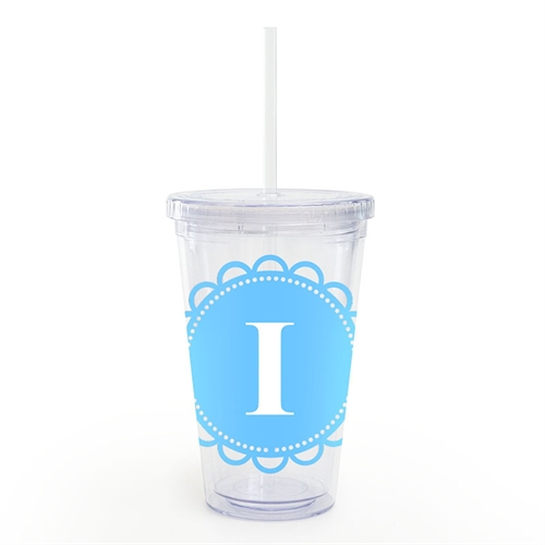 Ocean Lace Personalized Acrylic Double Wall Tumbler