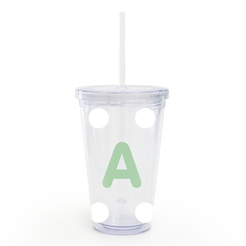 Design Your Own White Large Dot Insulated Tumbler