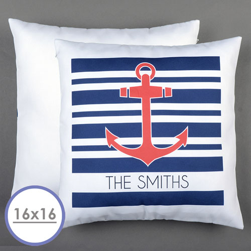 Anchor Personalized Pillow Cushion Cover 16