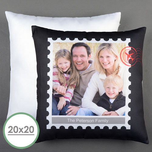 Stamp Personalized Large Pillow Cushion Cover 20