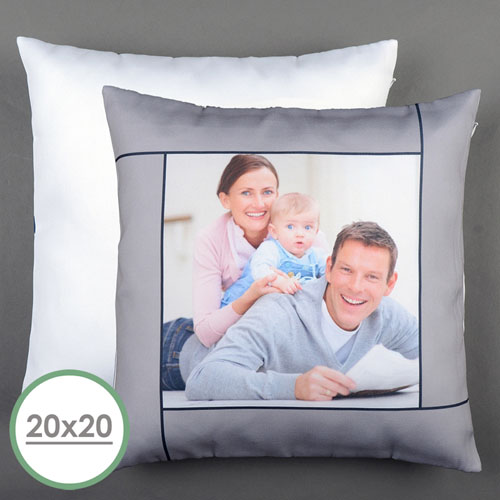 Grey Personalized Large Pillow Cushion Cover 20