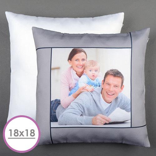 Grey Personalized Large Cushion 18