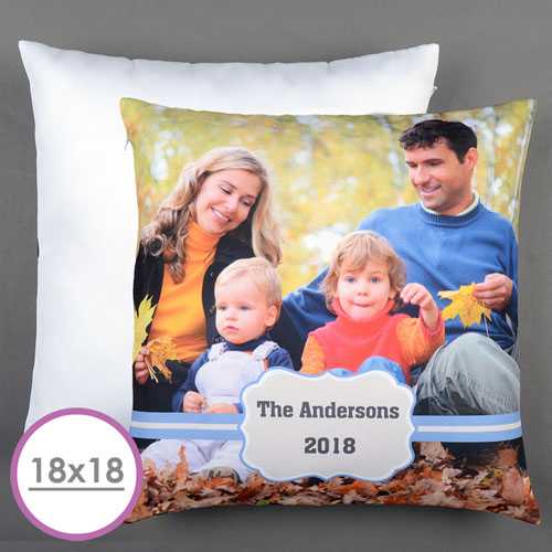 Blue Frame Personalized Large Cushion 18