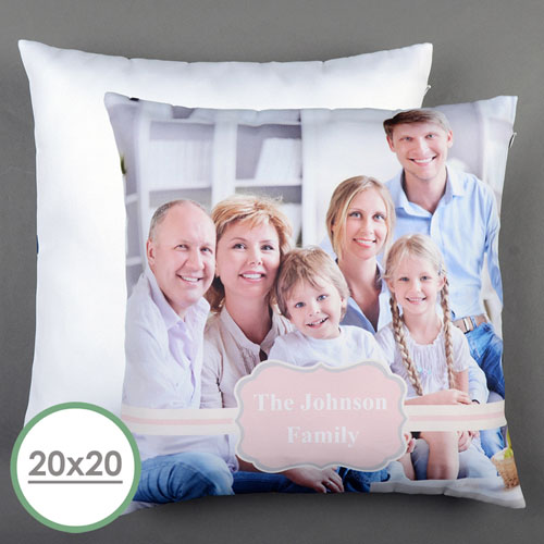 Pink Frame Personalized Large Pillow Cushion Cover 20
