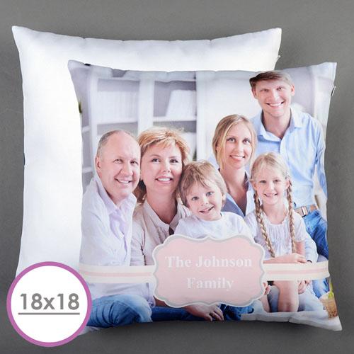 Pink Frame Personalized Large Cushion 18