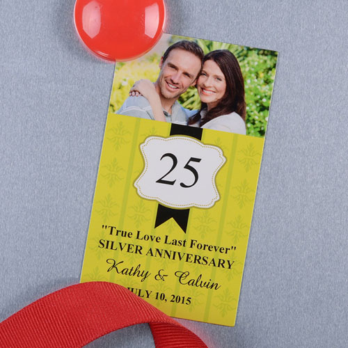 Lime Anniversary Plate Personalized Photo Magnet
