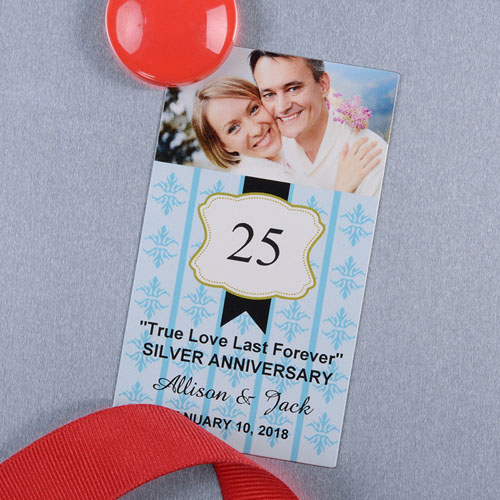 Ocean Anniversary Plate Personalized Photo Magnet