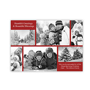 Personalized Christmas Blessing Collage Invitation Holiday Cards