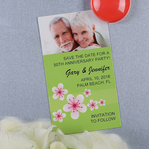 Create And Print Lime Flourish Personalized Photo Magnet 2x3.5 Card Size