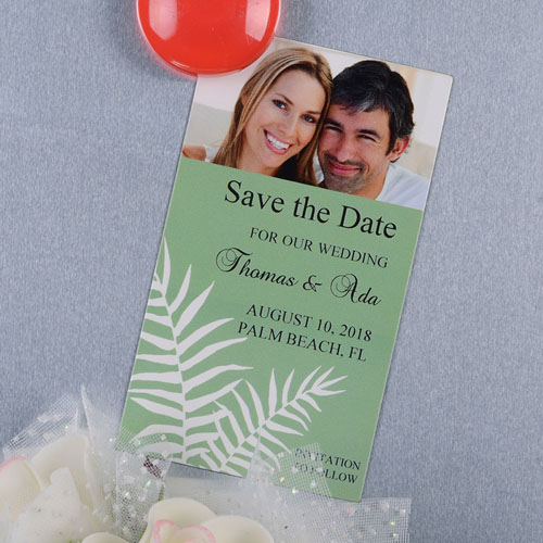 Create And Print Sage Fern Personalized Photo Magnet 2x3.5 Card Size