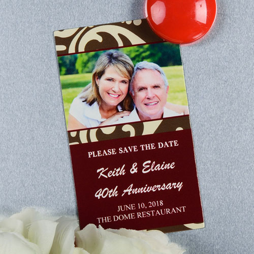 Create And Print Brown Lawn Personalized Photo Magnet 2x3.5 Card Size