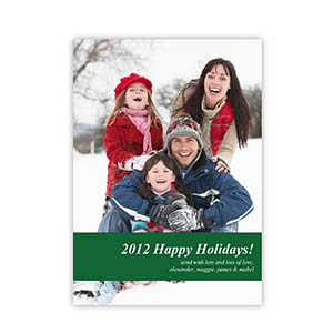 Personalized Merry Kissmass  Green Invitation Holiday Cards