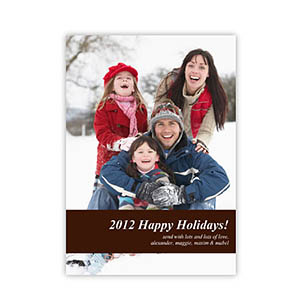 Personalized Merry Christmas  Black Invitation Holiday Cards