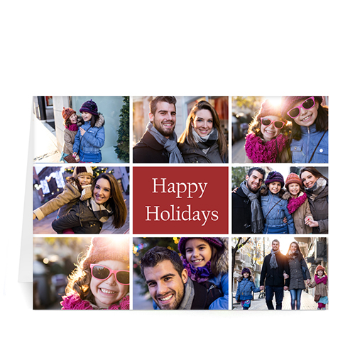 Custom Printed Great Joy Collage Greeting Card