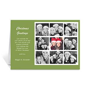 9 Photo Collage Rejoice - Green