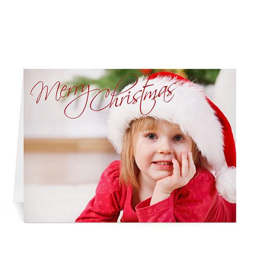 Custom Printed Merry Christmas Fun Greeting Card