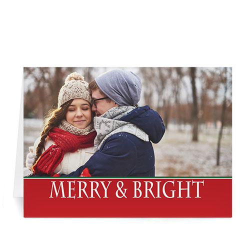 Custom Printed Red Peace Greeting Card