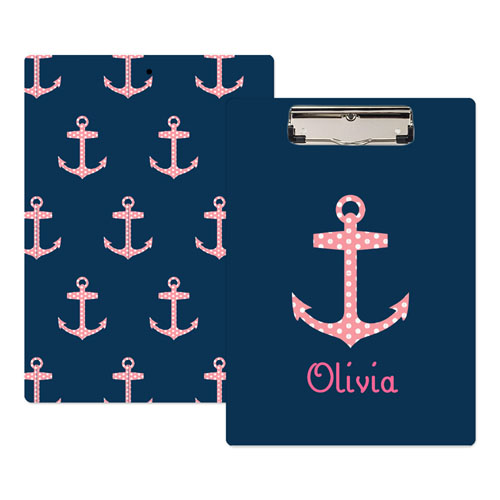 send a letter polka dot anchor personalized clipboard 24790