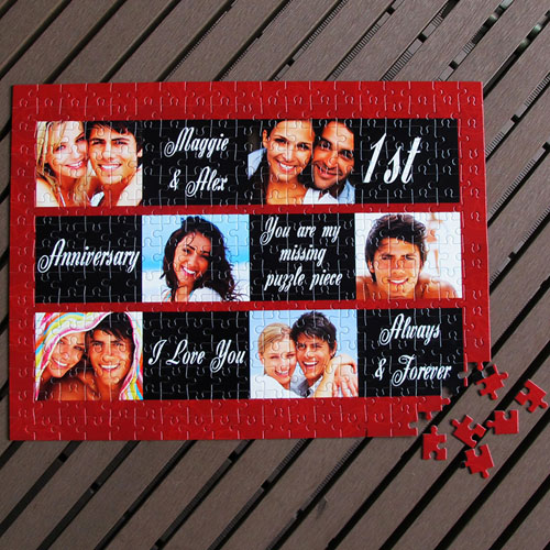 Personalized Black & Red 12X16.5 Photo Puzzle