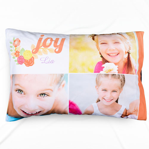 Joy Collage Personalized Pillowcase