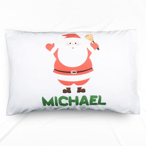 Santa Claus Personalized Name Pillowcase