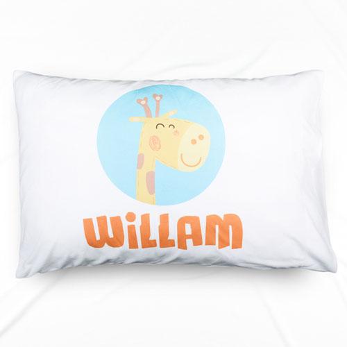 Giraffe Personalized Name Pillowcase
