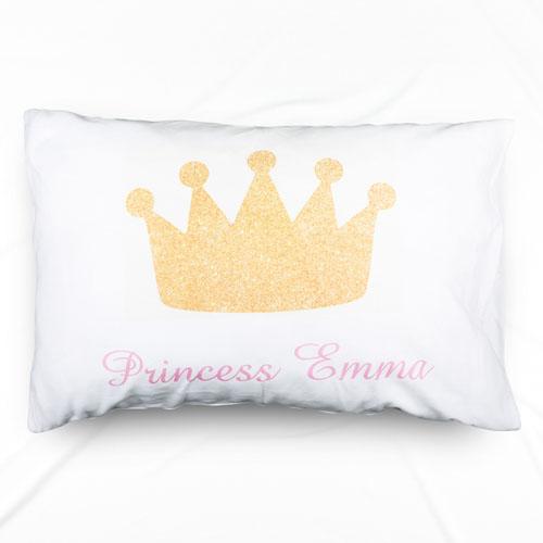 Princess Crown Personalized Name Pillowcase