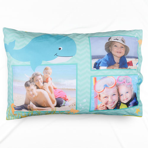 Tropical Sea Personalized Photo Pillowcase